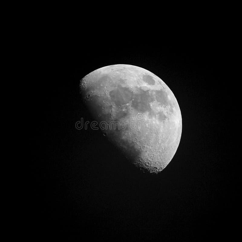 Almost full moon stock photos