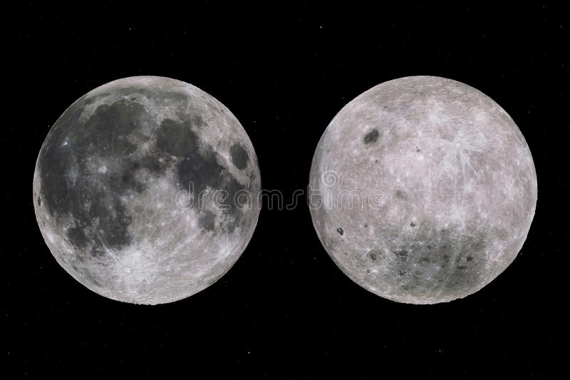 Full Moon Sides And Starry Sky Royalty Free Stock Photo