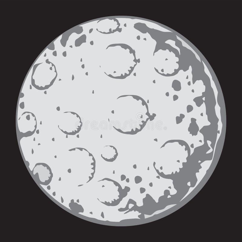 Full moon stock illustration