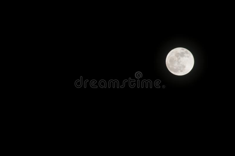 Full moon in the sky at night royalty free stock images
