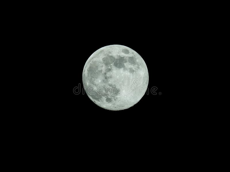 full moon in the starry night sky royalty free illustration