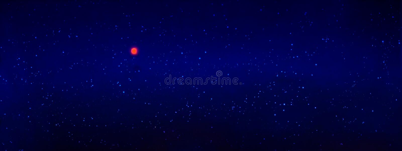 Full moon with stars at dark night sky . Abstract sky background. royalty free stock photography