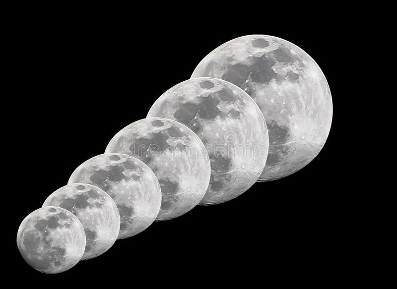 Full moons royalty free stock photos