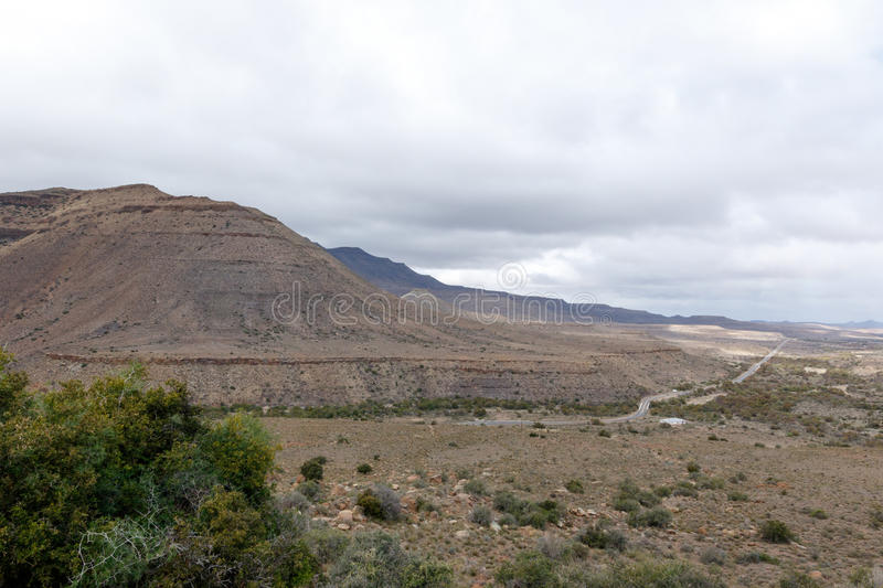 The Full Mountain View - Fraserburg Landscape stock image