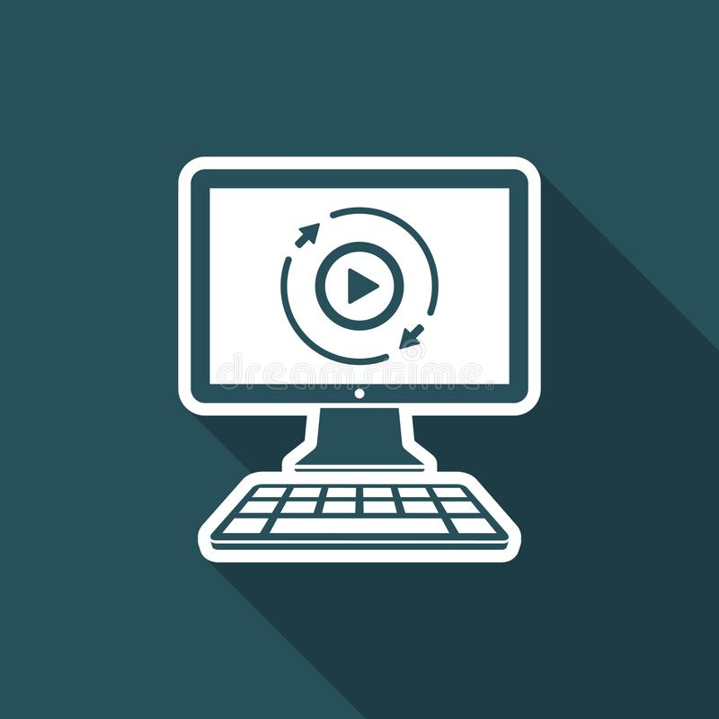 Full multimediaservice - plan symbol för vektor stock illustrationer