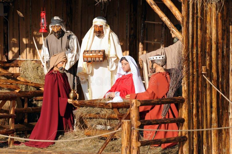 Download Full Nativity Scene stock image. Image of vintage, concept - 3824649