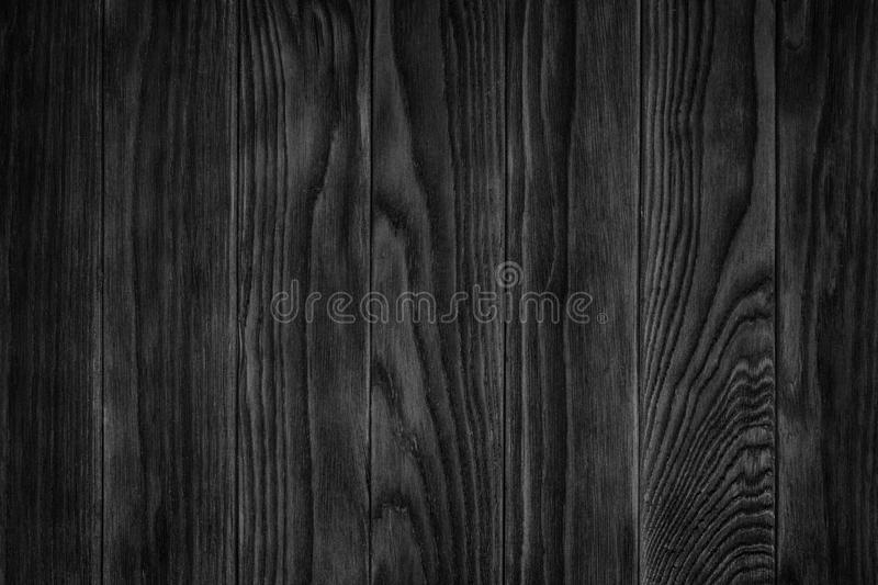 Full Page Of Dark Stained Distressed Wooden Floor Board
