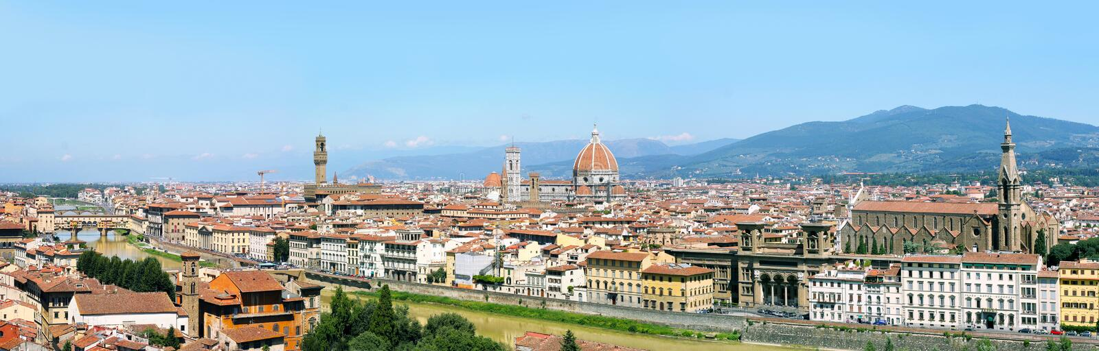 Full panorama of Florence stock photography