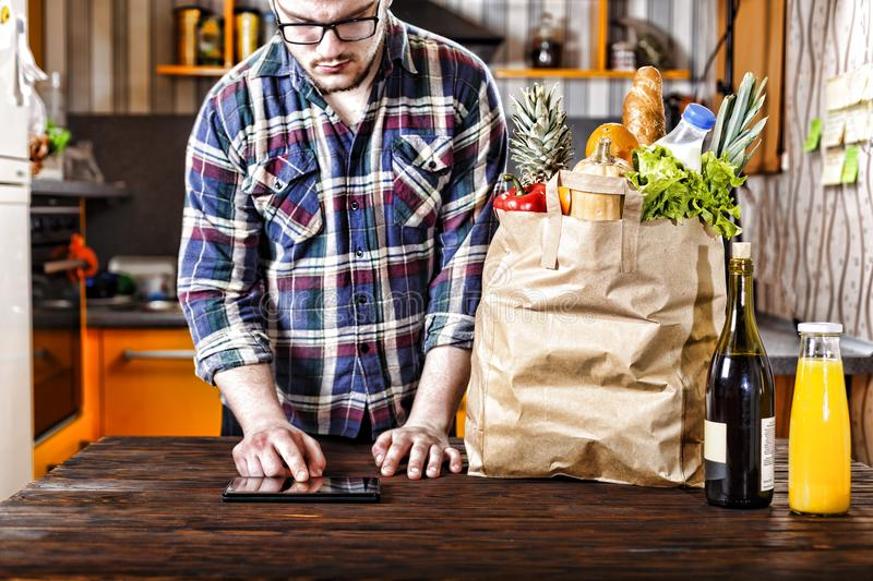 Food, shopping, internet, online, catering, delivery, business royalty free stock photo