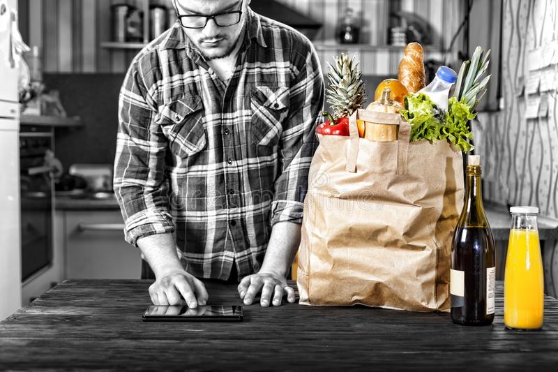 Food, shopping, internet, online, catering, delivery, business stock photography