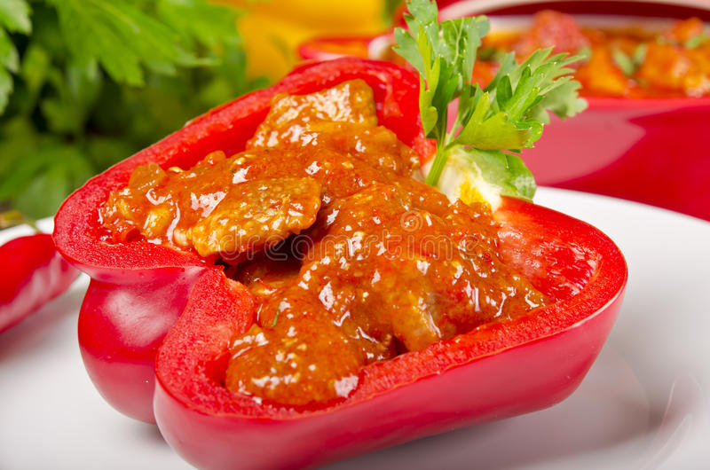 Full Paprika (with Meat) Royalty Free Stock Images