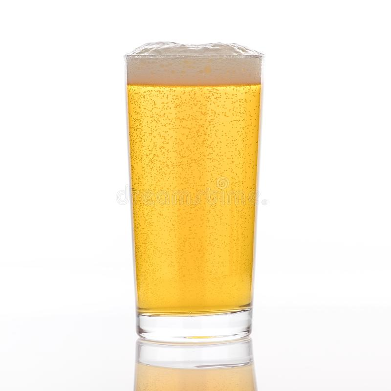 A Full Pint of Pilsner stock images