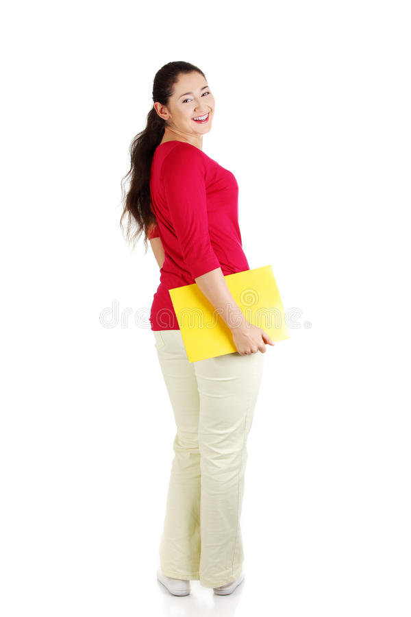 Download Full Portrait Of Happy Student Girl Stock Image - Image: 22555253