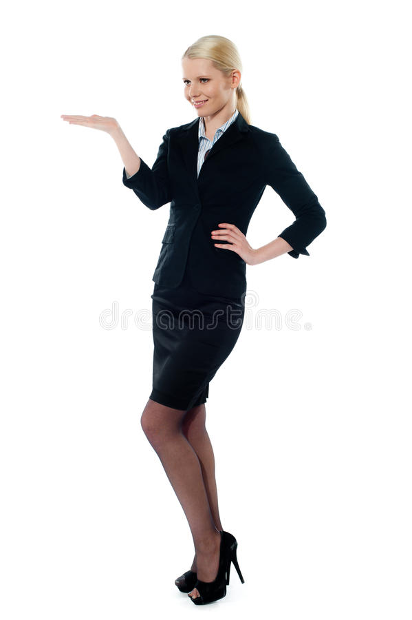Download Full Pose Of Charming Young Businesswoman Stock Image - Image: 23842973