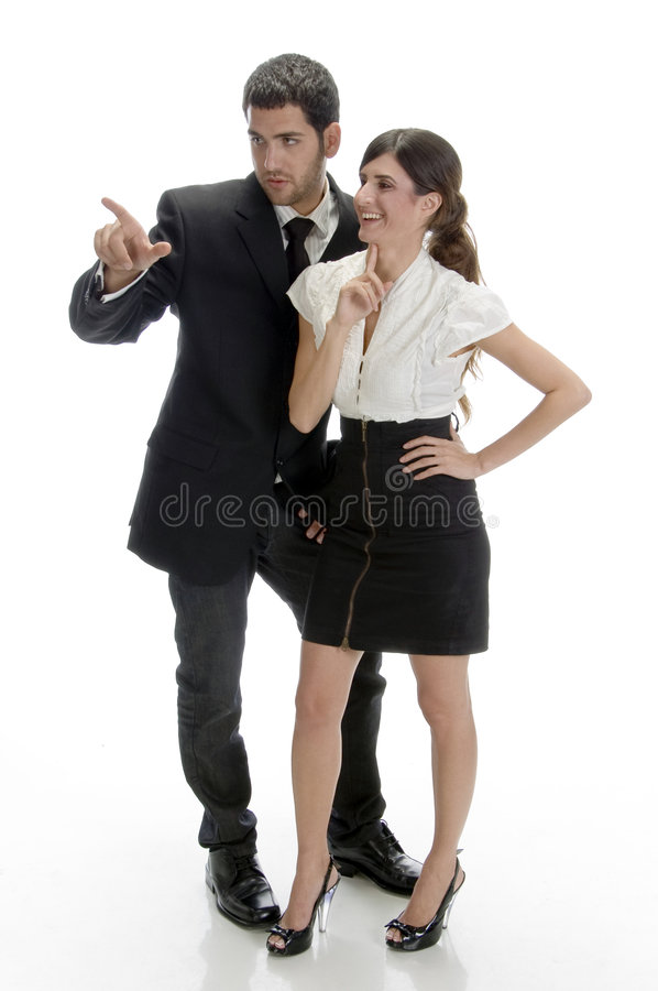 Free Full Pose Of Business People Royalty Free Stock Image - 6549646