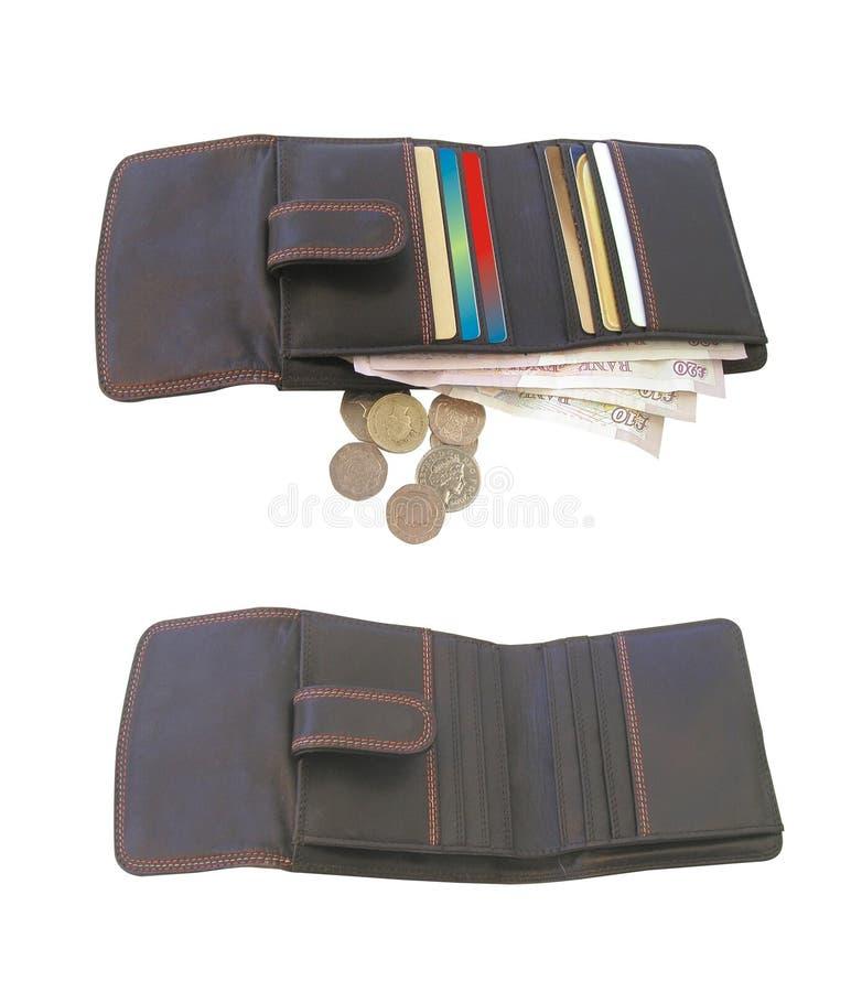 Full purse, empty purse royalty free stock photos