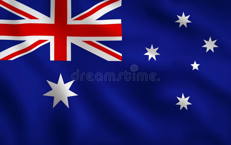 Full ram för Australien flaggabild vektor illustrationer