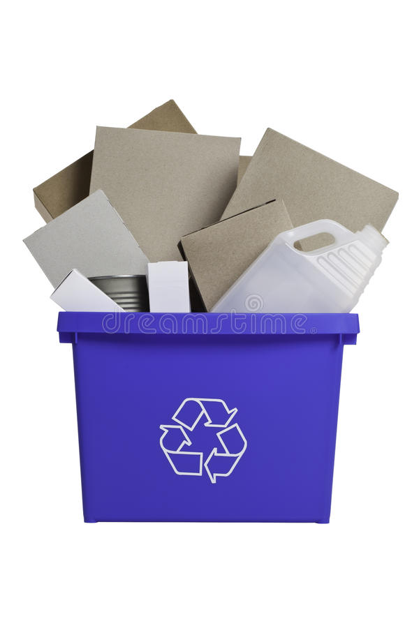Full Recycling bin royalty free stock images