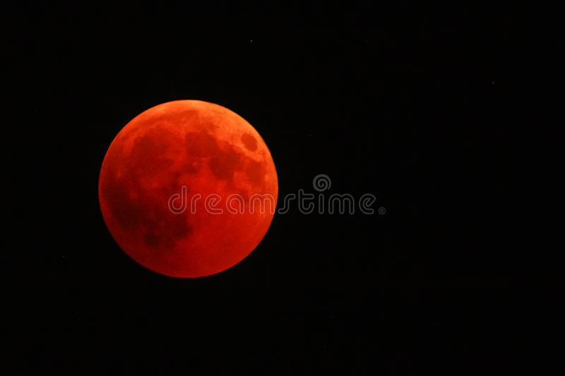 Full red moon stock photos
