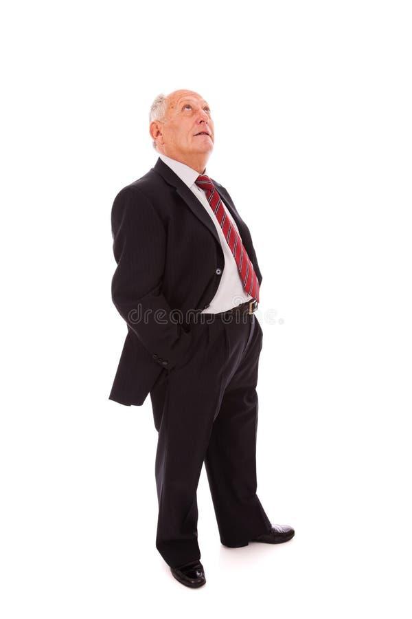 Full senior businessman royalty free stock images