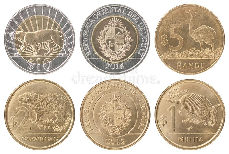 Uruguay Coin Collection royalty free stock image