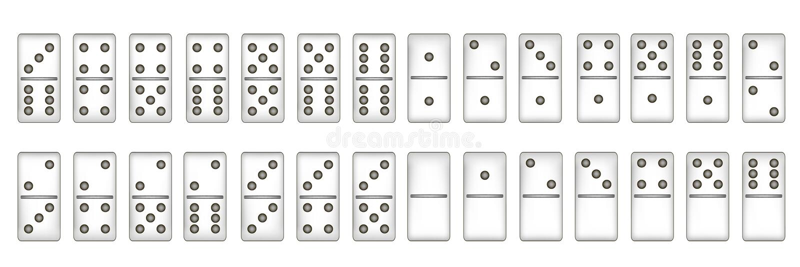 Full set of domino, illustration stock illustration