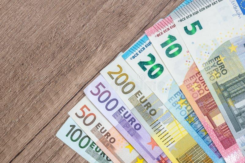 5 10 20 50 100 200 500 full set of euros royalty free stock photos