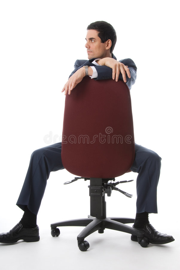 Full shot on a chair stock photo