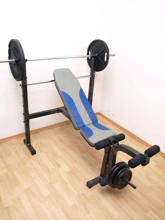 Full size bench press royalty free stock photo