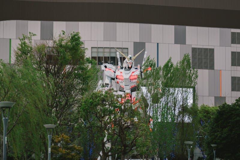 Full-size Mobile suit RX-0 Unicorn Gundam replica royalty free stock photography