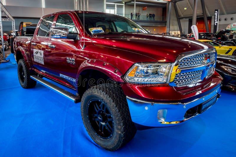 Full-size pickup truck Dodge Ram 1500 Laramie Crew CAB, 2017. royalty free stock photo
