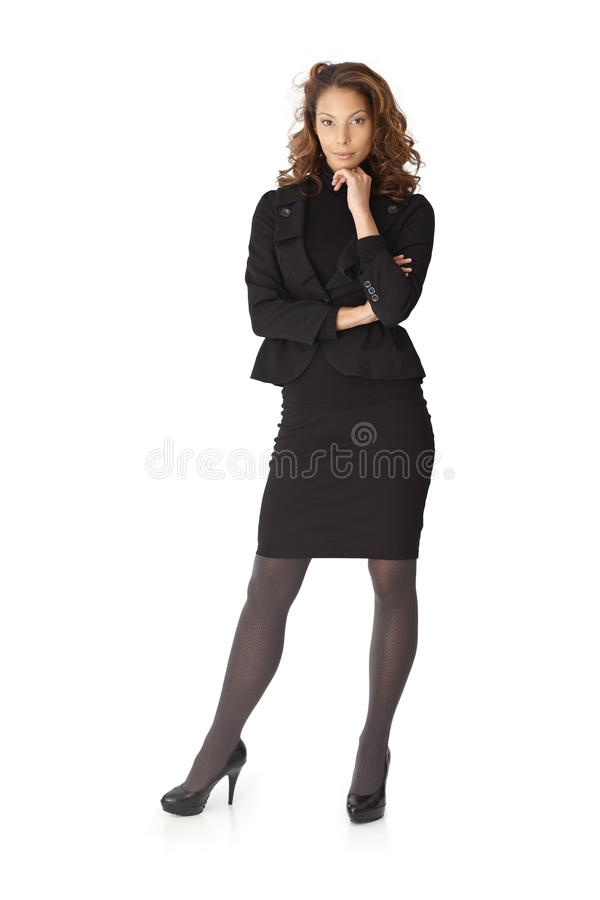 Full size portrait of attractive businesswoman stock images