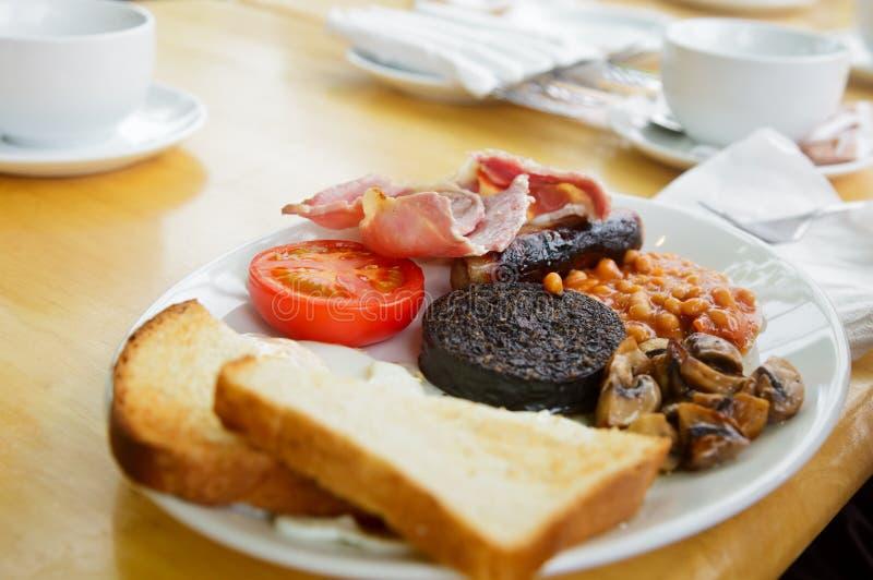 Full skotsk frukost royaltyfri bild