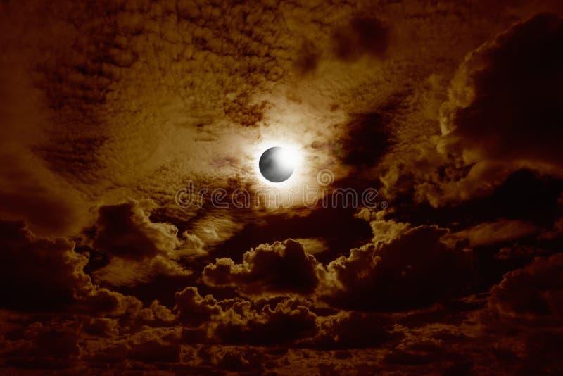 Full sol- förmörkelse royaltyfri foto