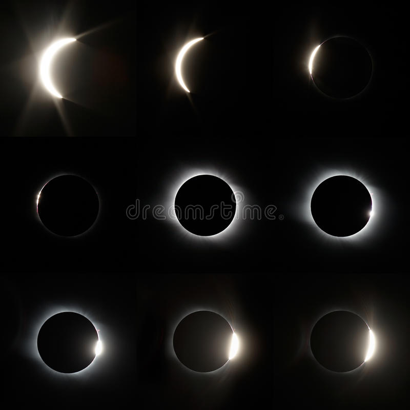 Full sol- förmörkelse royaltyfria bilder