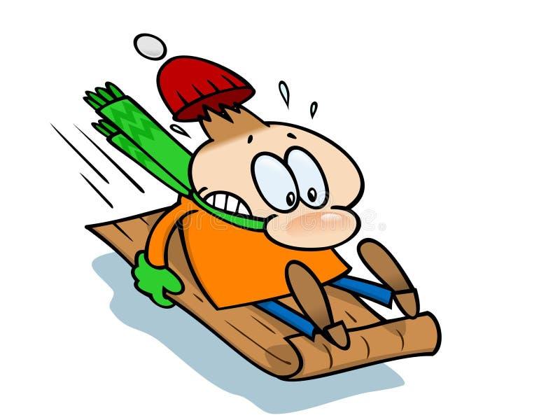 Download Full Speed Downhill Sledge stock vector. Image of sledge - 12499794