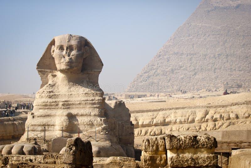 full sphinx för framsida royaltyfria bilder