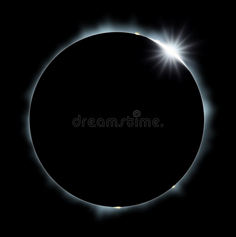 Download Full Sun Eclipse stock illustration. Image of outer, radiant - 23913000