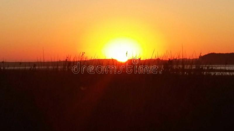 Full Sunset royalty free stock images