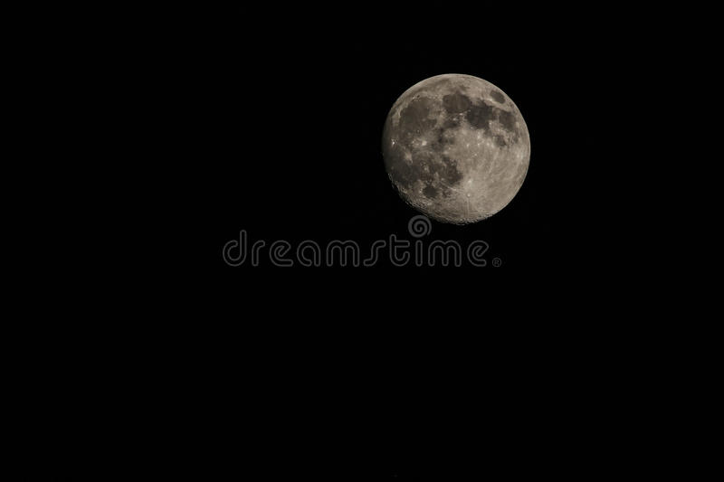 Full super moon. The full super moon was captured early 2014 in phoenix, Arizona royalty free stock photography
