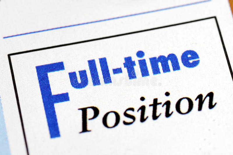 Full time position sign
