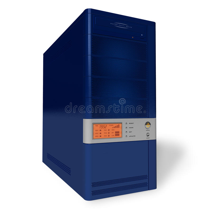 Download Full-tower PC stock illustration. Illustration of computer - 13001425