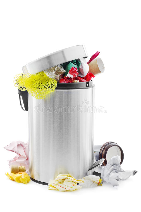 Free Full Trash Can Royalty Free Stock Image - 28611256