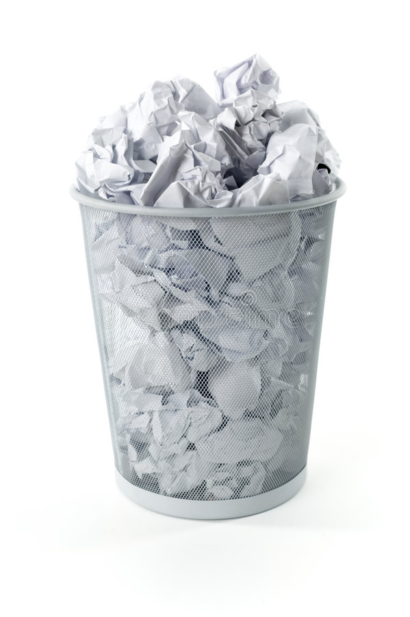 Full trashcan royalty free stock images