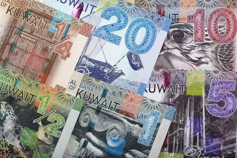 Full uppsättning av kuwaitiska pengar, en bakgrund royaltyfria foton