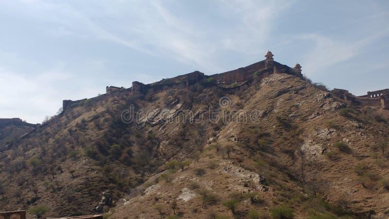 Full view of jaigarh fort stock photo