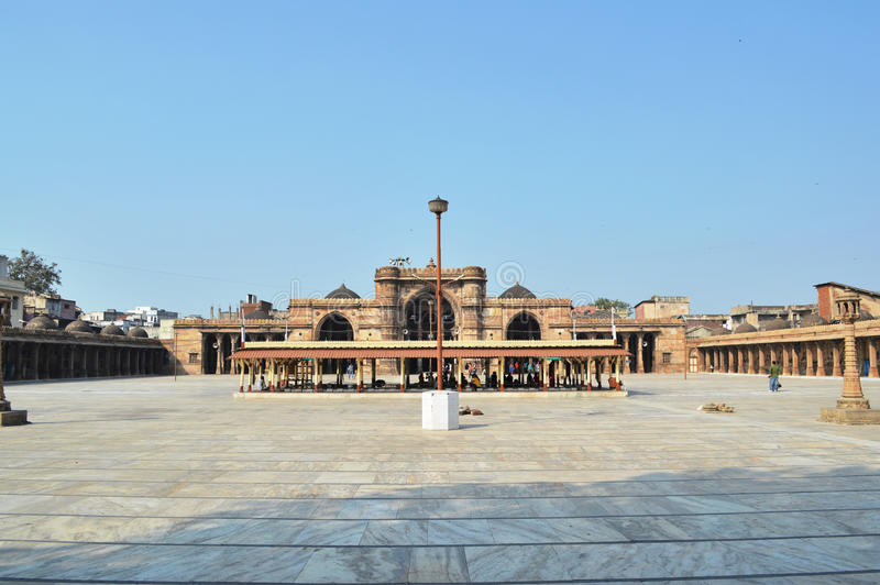Full view of Jama Masjid, Ahmedabad. Jami(Jama) Masjid is beautiful place to visit in Ahmedabad, Gujarat. It is religious place where people of Muslim royalty free stock photo