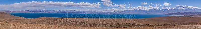 Full Views of Lake Manasarovar: Travelling in Tibet royalty free stock image