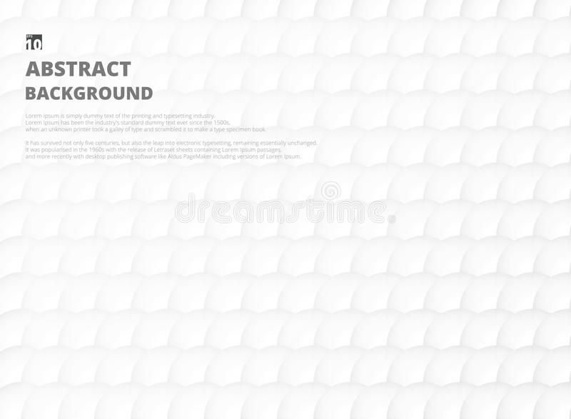 Full white abstract of soft gradient grey and white circle shape. Pattern background. Illustration eps10 royalty free illustration