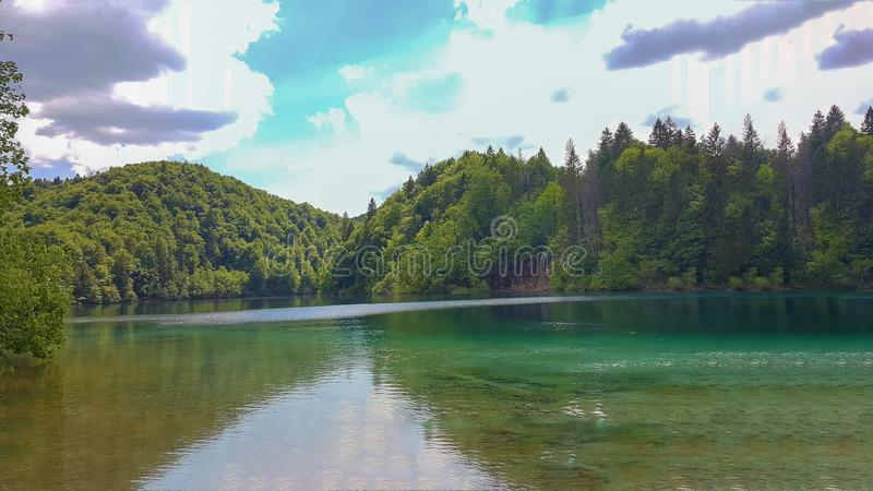 Pure Nature at Plitvice Lakes stock photo